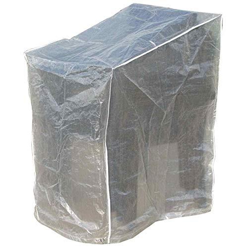 Jet-line Gartenmöbel Schutzhülle Transparent Abdeckplane Gartenmöbel Stühle Transparent Terasse Möbel Hülle Abdeckung