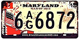 Metal Signs, Maryland war of 1812 Colorado Florida Vintage Garage Car Number License Plate Metal Tin Signs Wall Art Painting Truck Iron Craft Home Bar Pub Decor