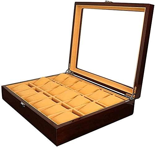 Caja de almacenamiento de reloj multifuncional 18 caja de exhibición de reloj pintada caja de joyería de madera caja de reloj caja de visualización de reloj accesorio de viaje moda