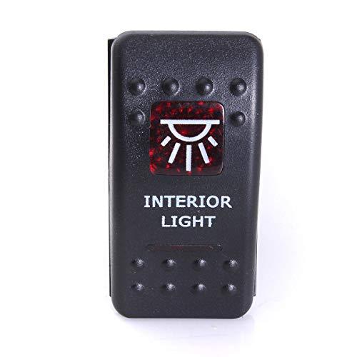 C-FUNN tuimelschakelaar Narva ARB Carling Style Dual LED verlicht on-Off dak licht rood 10 Ans et plus