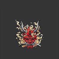 車のステッカー赤い悪魔の窓の薪ビニールオイルボックスオートバイのラップトップステッカーカラーステッカー 面白いシール カートゥーンシール ス (Color : B 10.8x11cm)