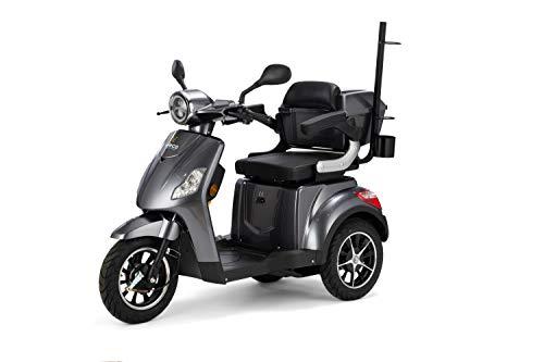VELECO Scooter Elettrico 3 Ruote Disabili, Anziani 25km/h DRACO (Grigio)
