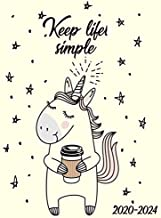 Keep Life Simple 2020-2024: Nifty Unicorn 5 Year Monthly Planner with 60 Months Calendar Spread. Five Year Organizer Agenda Schedule Notebook and Business Planner.