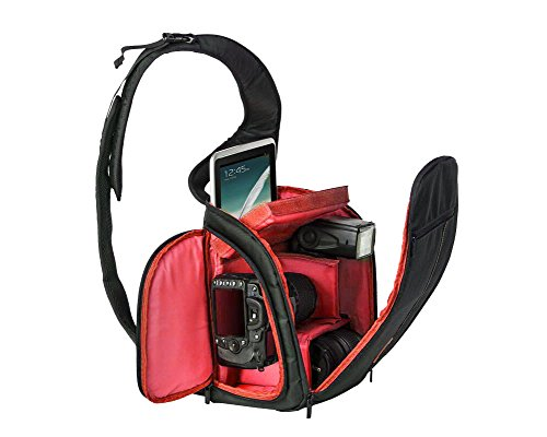 ZhuiKun DSLR Camara Caso Bolsa para Canon MK Series Nikon Rojo