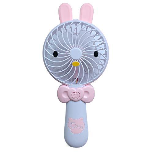 XYQ nieuwe tekening creatieve karikatuur USB-oplader draagbare mini-hendel met kleine ventilator Roze Bringt verlichting