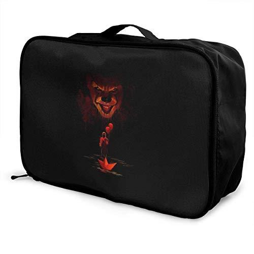 It Pennywise Clown Travel Lage Bolsa de viaje ligera maleta portátil Bolsas impermeable grande Bapa Caity