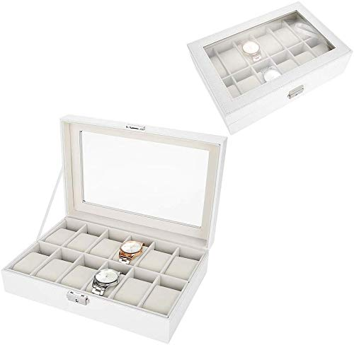 Multifunctional Watches Storage Case, 8 + 2 Grids Watches/Jewelry Display Storage Box/Case (#09)