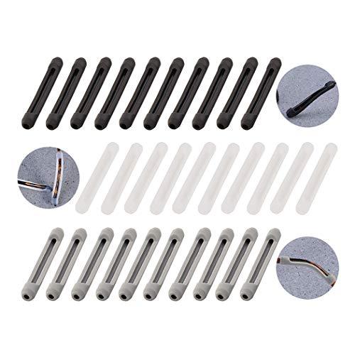 15 pares de silicona antideslizante protector para gafas de gafas de soporte, cubiertas antideslizantes titular para gafas de sol gafas de lectura