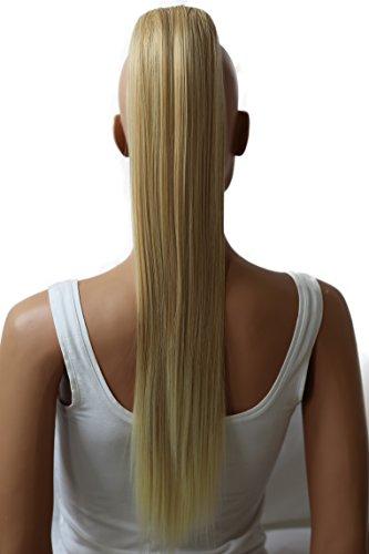 PRETTYSHOP Voluminosa liso peluca peluca trenza cola de caballo Cola de caballo fibra sintética 70cm refractario mezcla rubia H77
