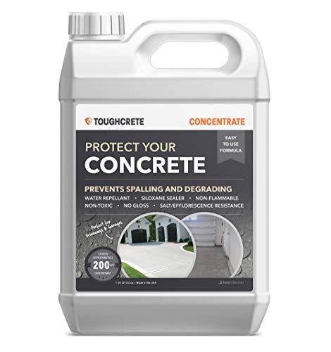 ToughCrete Concrete Sealer - 1 Quart (Covers 200SqFt) - Professional Concrete Sealant for Driveways, Garage Floors, Sidewalks, Patios, and Other Concrete Surfaces