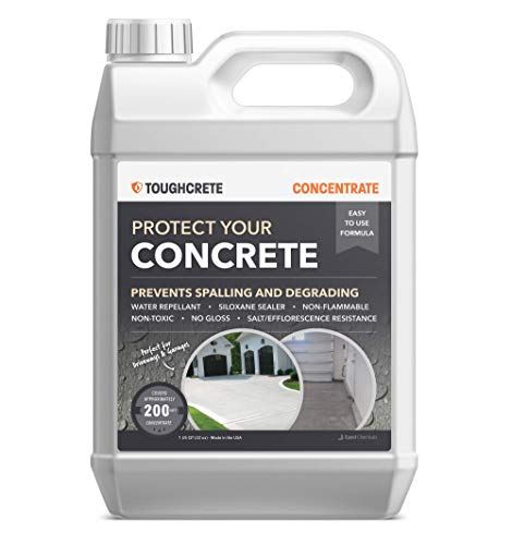 ToughCrete Concrete Sealer - 1 Quart (Covers 200SqFt) - Professional Concrete Sealant for Driveways, Garage Floors, Sidewalks, Patios, and Other Concrete Surfaces