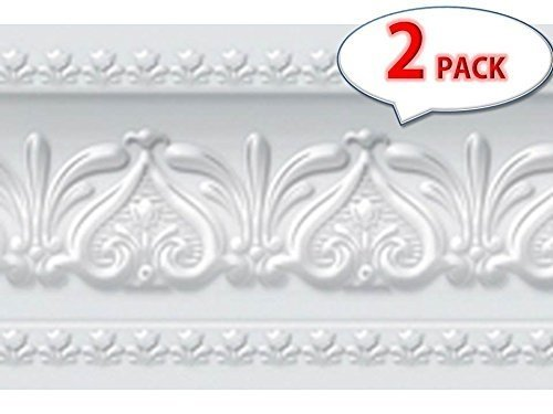Peel and Stick Wall Border Easy to Apply Band Wall Paper (2, Neutral Gray)