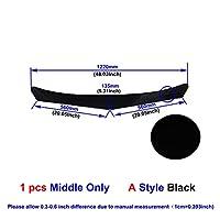 ユニバーサルカーボンファイバー/ブラックカーフロントバンパーリップスプリッタバンパーディフューザガードプロテクター (Color : Middle Black A)