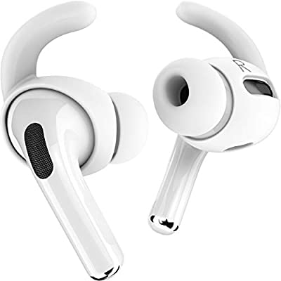 Proof Labs 3 Pairs AirPods Pro Ear Hooks Covers [Added Storage Pouch] Accessories Compatible with Apple AirPods Pro (White) by Proof Labs