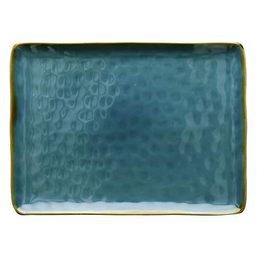 Nador Concerto Blu Avio Plateau rectangulaire en nylon Bleu Ø 36 cm l 26,5 cm