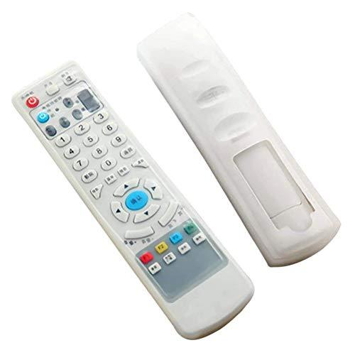 TV Fernbedienung Hülle, Fernbedienung Schutzhülle, Silikon Transparent Klimaanlage TV-Fernbedienung Schutztasche, staubdicht und wasserdichte Abdeckung (2 sätze)