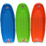 "Flexible Flyer Lightning Snow Sleds for Kids & Adults. Plastic Toboggan Sand Slider 48"" 3-Pack"