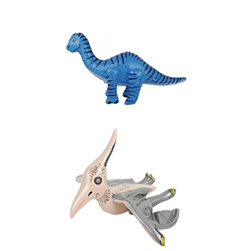 F Fityle Pack De 2 Juguetes Hinchables De Dinosaurio para Piscina Gigante - Pterosaurios, Tyrannosaurus Rex, Triceratops, Brachiosaurus