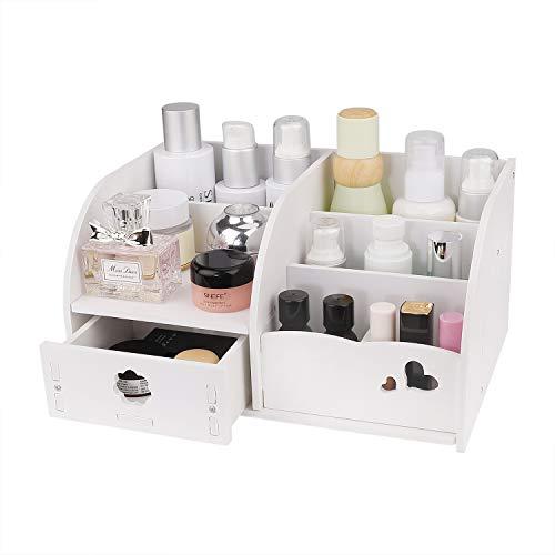 MaoXinTek Kosmetik Aufbewahrung Make-up Organiser mit 6 Fächern Und Schubladen Schreibtisch Aufbewahrungsbox für Dresser Schlafzimmer Badezimmer Büro