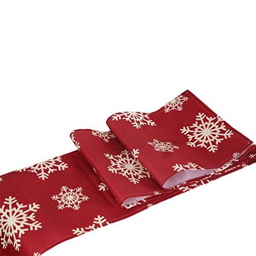KESYOO Weihnachten Tischläufer Weihnachten Tischdecke mit Schneeflocken Muster Weihnachten Urlaub Tischdekoration