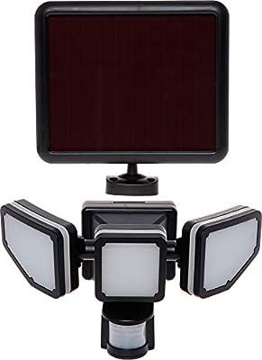 GreenLighting Corner Mount Bright Lumen Triple Head PIR Solar Security Flood Light w/Motion Sensor