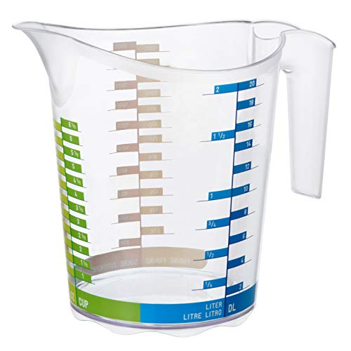Rotho Domino Messbecher 0.3l mit Skala, Kunststoff (PP) BPA-frei, transparent, 0,3l (12,3 x 8,6 x 10,5 cm)