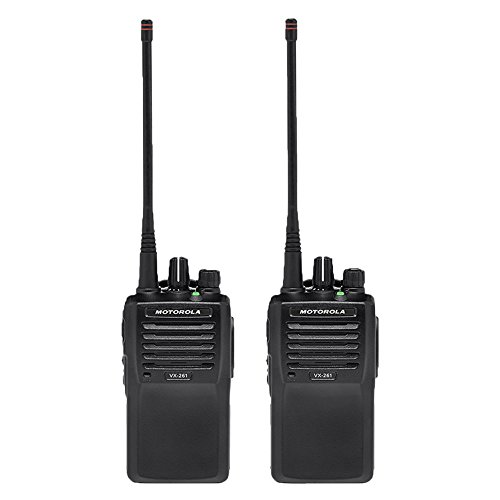 2 VX-261-D0 5 Watt 16 Channel VHF Two Way Radios by Motorola Solutions - Intended for Business Use