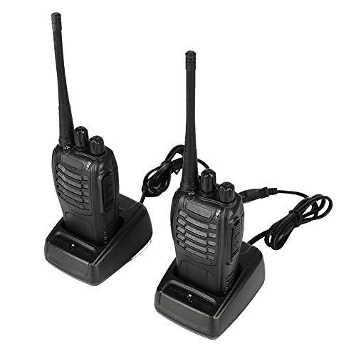 2pz BF-888S Walkie Talkie Professionali UHF radio Walkie Talkie Ricaricabili a Lunga Distanza Ricetrasmettitore Portatile a 16 canali 5W Frequenza Civile con torcia elettrica, Compatibile con Baofeng