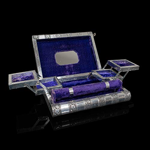 Vintage Decorative Jewellery Box, Indian Silver, Vanity Case, Late 20th...