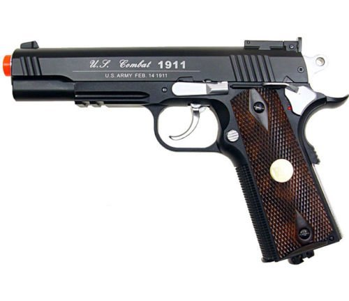 500 fps new full metal wg airsoft m 1911 gas co2...
