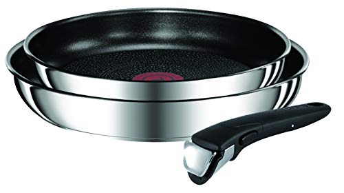 Tefal INGENIO PREFERENCE Lot de 2 Poêles 24/28 cm Antiadhésif + 1 Poignée Amovible Induction L9409202