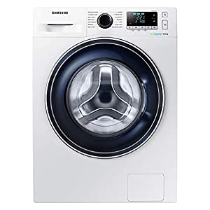 Samsung WW80J5555FA Freestanding Washing Machine with Ecobubble, 8 kg Load, 1400 rpm Spin, White