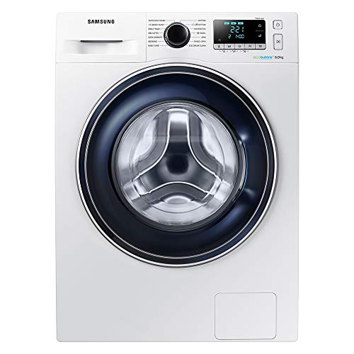 Samsung Ecobubble WW80J5555FA Freestanding Washing Machine, 8Kg Load, 1400rpm Spin, White