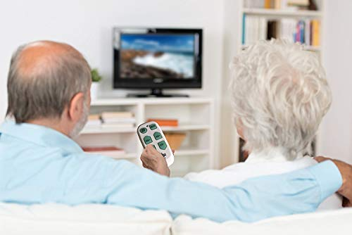 Universal Big Button TV Remote - EasyMote | Backlit, Easy Use, Smart, Learning Television & Cable Box Controller, Perfect for Assisted Living Elderly Care. White TV Remote Control