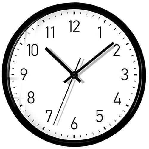 Color : Log-digital, Size : 30x30cm Moderne Horloge Murale Mute Silencieuse Pendule Murale pour La Chambre Cuisine Salon