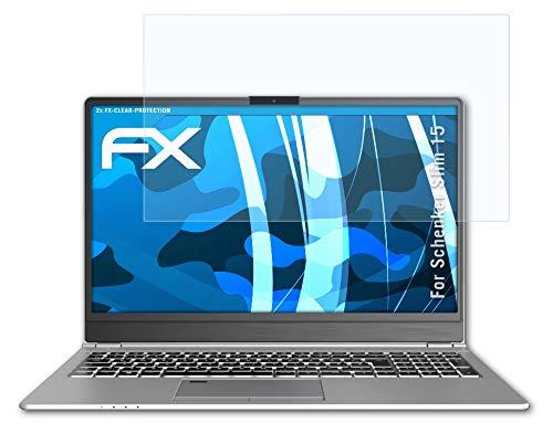 atFolix Schutzfolie kompatibel mit Schenker Slim 15 Folie, ultraklare FX Bildschirmschutzfolie (2X)