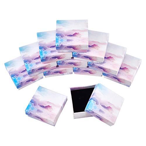 SUPERFINDINGS 20個 ギフトボックス スカイ 雲 ラッピングボックスセット 紙ボックス アクセサリーケース プレゼント ジュエリー収納 包装 ラッピング 正方形 小箱 紙箱 ブレスレット用 贈り物 カラフル
