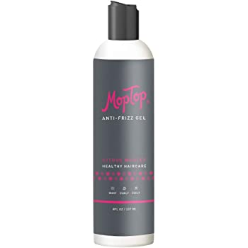 8oz, MopTop Salon Anti-Frizz Medium Hold Gel for Curly & Kinky-Coily Thick, Natural hair made w/Aloe, Sea Botanicals & Honey reduces Frizz, increases Manageability & Enhances Curls.