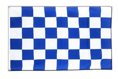 Kariert Blau-Weiß Flagge, weiss blaue Fahne 150 x 250 cm, MaxFlags®