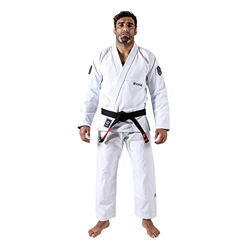 KINGZ IBJJF Mens - Balistico 3.0   Brazilian Jiu Jitsu Gi   White A1