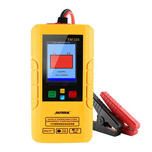 AUTOOL EM335 Portable Vehicle SUPERCAPACITOR Emergency Starting Power, 1000A Car Jump Starter,Auto Battery Booster Charger,12V Starting Device Petrol Car Starter