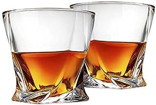 Cooko Vridna whiskyglas, ultraklarhet glasset, diskmaskinssäker, vingåvor, uppsättning av 2 (300 ml/11 oz)