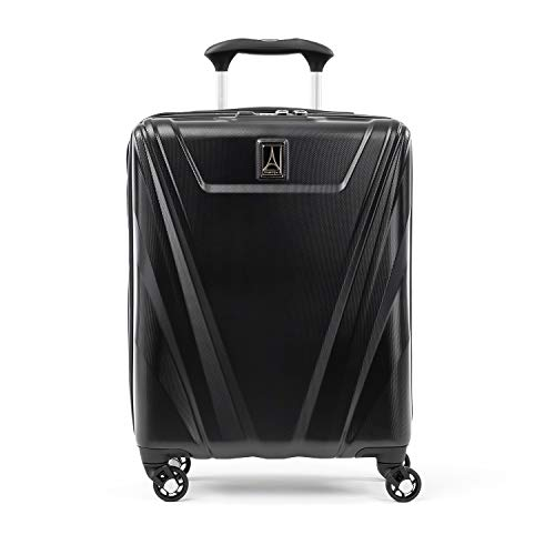 Travelpro Maxlite 5-Hardside Spinner Wheel Luggage, Black, Carry-On 19-Inch