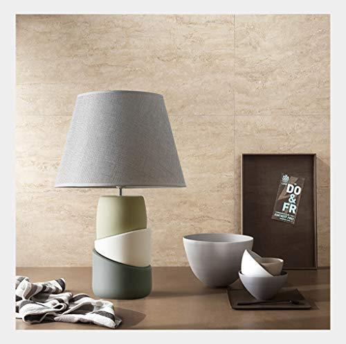 Lampe de table F Lampe de table Simple Art Chambre Creative Décoration Décoration Lampe de chevet en verre vert olive (Couleur : Remote control LED bulb)