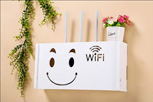 HX home Router opbergdoos Afwerking muur opknoping extra grote woonkamer opslag draadloze wifi rack 52x25x10cm