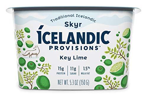 Icelandic Provisions Key Lime Skyr Yogurt, 5.3 Ounce (Pack of 12)