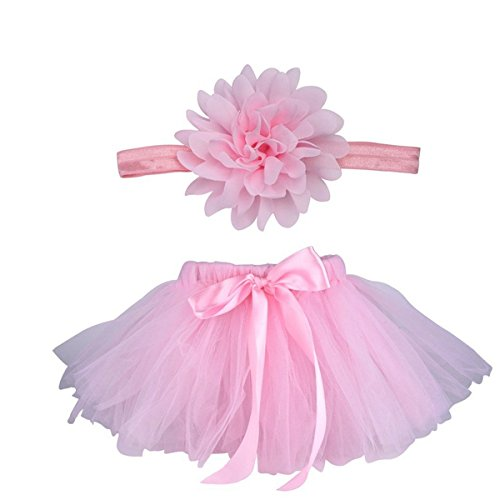 ZUMUii Butterme Nouveau-né Bébé Infant Shopping Soutien-Gorge Costume Tenue Tutu Jupe Outfits Fleur Headband Set