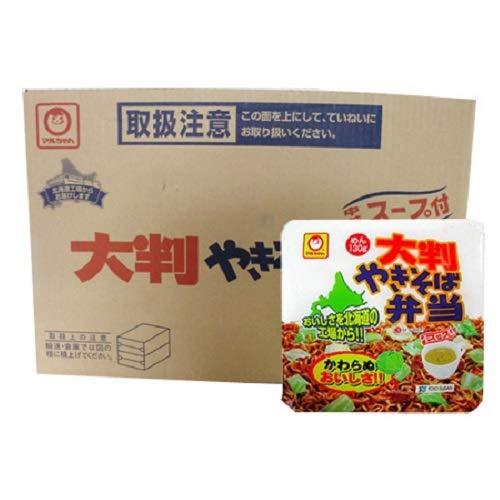 マルちゃん カップ麺 焼きそば 即席カップめん 東洋水産 大判 やきそば弁当 (スープ付) 12食入 1ケース(1箱) 北海道限定 カップやきそば やきべん