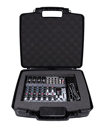 CASEMATIX Custom Case Designed just For BEHRINGER XENYX 1202FX Analog Mixer and 1202 power Supply - Protective Padded Foam Compartment and hard Shell Protects Knobs and Deck