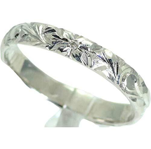 [京都ジュエリー工房] ハワイアンジュエリー 結婚指輪 マリッジリング ペアリング用 手作り ハワイアン リング 3mm幅 地金素材:K18 ピンクゴールド 26-2988 誕生石:8月 ペリドット 17号